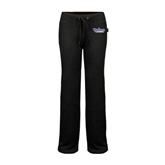 ENZA Ladies Black Fleece Pant-Stonehill Skyhawks