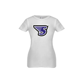 Youth Girls White Fashion Fit T Shirt-S