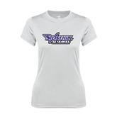 Ladies Syntrel Performance White Tee-Stonehill Skyhawks