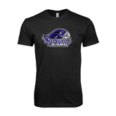 Next Level SoftStyle Black T Shirt-Official Logo