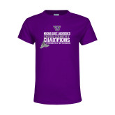 Youth Purple T Shirt-2017 Womens Cross Country Champions