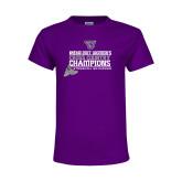 Youth Purple T Shirt-2017 Womens Cross Country Champions