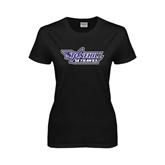 Ladies Black T Shirt-Stonehill Skyhawks