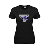 Ladies Black T Shirt-S