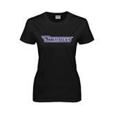 Ladies Black T Shirt-Skyhawks