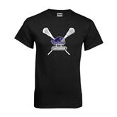 Black T Shirt-Lacrosse Sticks Design