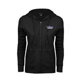 ENZA Ladies Black Fleece Full Zip Hoodie-Stonehill Skyhawks