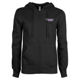 ENZA Ladies Black Fleece Full Zip Hoodie-Stonehill Skyhawks