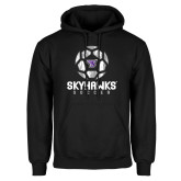 Black Fleece Hoodie-Distressed Soccer Ball Design