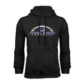 Black Fleece Hood-Arched Football Design