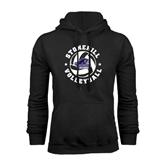 Black Fleece Hood-Volleyball Stars Design