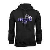 Black Fleece Hood-Soccer Swoosh