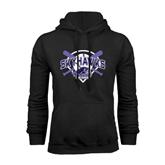 Black Fleece Hood-Softball Design w/ Bats and Plate