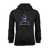 Black Fleece Hood-Hockey Crossed Sticks