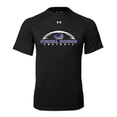 Under Armour Black Tech Tee-Arched Football Design