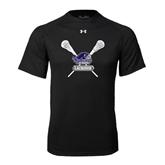 Under Armour Black Tech Tee-Lacrosse Sticks Design