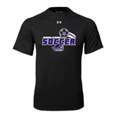 Under Armour Black Tech Tee-Soccer Swoosh