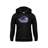 Youth Black Fleece Hood-Official Logo