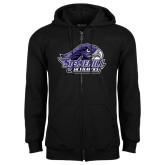 Black Fleece Full Zip Hood-Official Logo