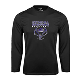 Syntrel Performance Black Longsleeve Shirt-Basketball Stacked