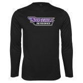 Performance Black Longsleeve Shirt-Stonehill Skyhawks