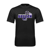 Syntrel Performance Black Tee-Soccer Swoosh