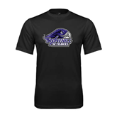 Syntrel Performance Black Tee-Official Logo