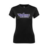 Ladies Syntrel Performance Black Tee-Stonehill Skyhawks