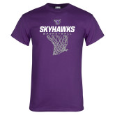Purple T Shirt-Basketball Net Design