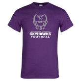 Purple T Shirt-Football Helmet Design