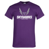 Purple T Shirt-Track and Field Wings Design