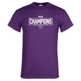 Purple T Shirt-2018 Womens Indoor Track and Field Champions