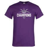Purple T Shirt-Womens Basketball Regular Season Champions