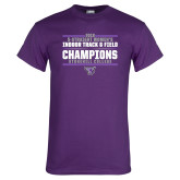 Purple T Shirt-Womens Indoor Track and Field Champions