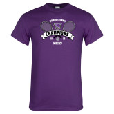 Purple T Shirt-2018 Womens Tennis Champions