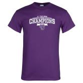 Purple T Shirt-2018 17 Time NE10 Womens XC Champions