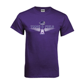 Purple T Shirt-Track and Field Design