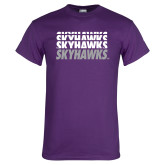 Purple T Shirt-Skyhawks Repeating