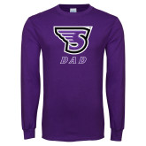 Purple Long Sleeve T Shirt-Dad