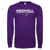 Purple Long Sleeve T Shirt-#GoHill