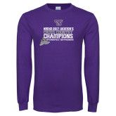 Purple Long Sleeve T Shirt-2017 Womens Cross Country Champions