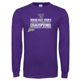 Purple Long Sleeve T Shirt-2017 Mens Cross Country Champions