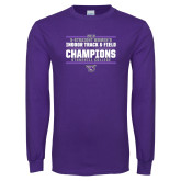 Purple Long Sleeve T Shirt-Womens Indoor Track and Field Champions