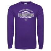 Purple Long Sleeve T Shirt-Womens Tennis Regular Season Champions
