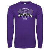 Purple Long Sleeve T Shirt-2018 Womens Tennis Champions