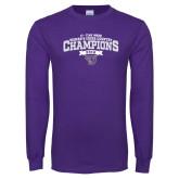 Purple Long Sleeve T Shirt-2018 17 Time NE10 Womens XC Champions