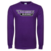 Purple Long Sleeve T Shirt-Stonehill Skyhawks