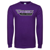 Purple Long Sleeve T Shirt-Cross Country