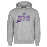 Grey Fleece Hoodie-2017 Mens Cross Country Champions