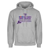 Grey Fleece Hoodie-2017 Mens Cross Country Champions